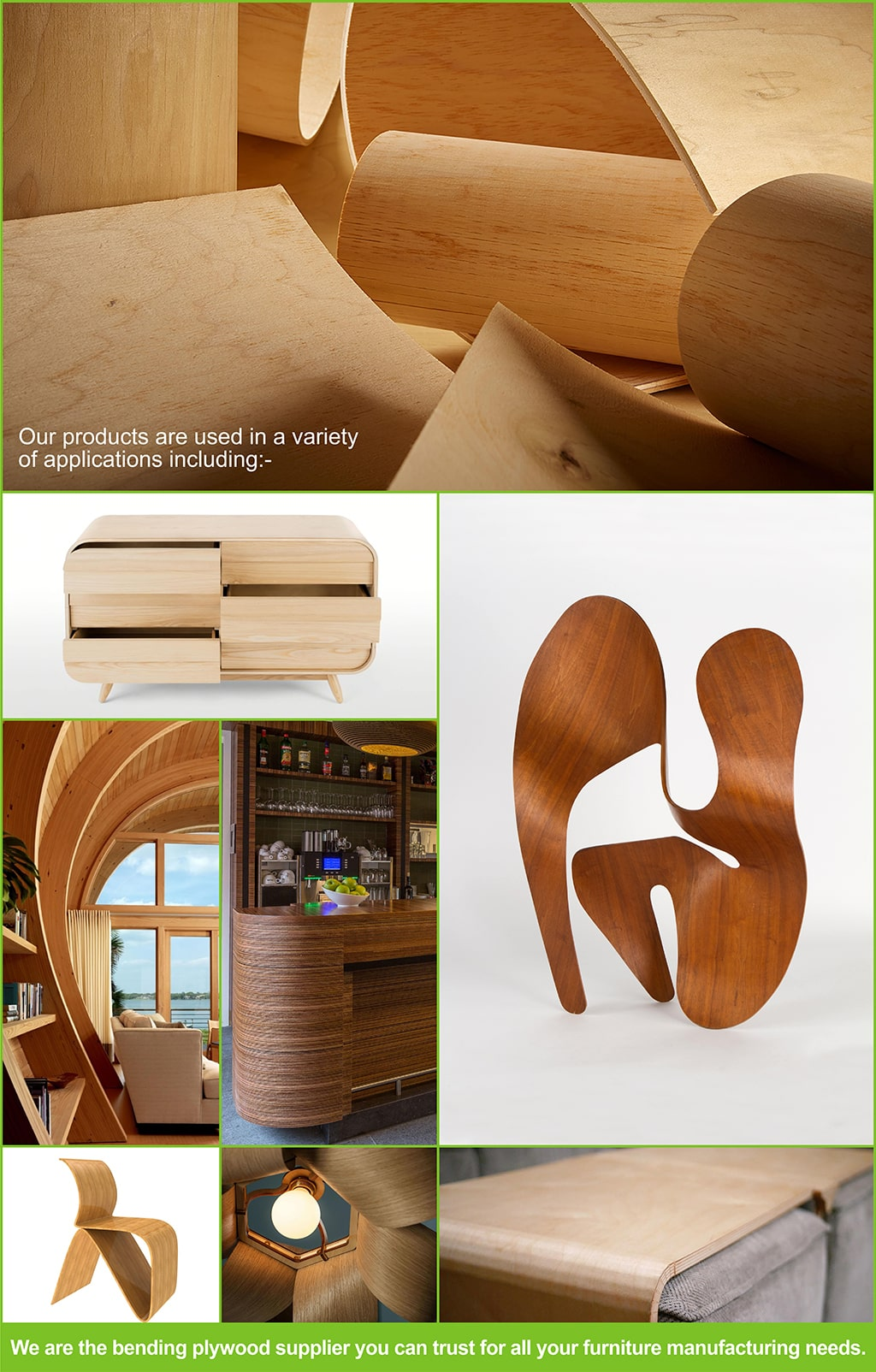 bending plywood products